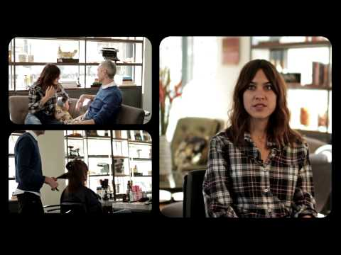Alexa Chung visits George Northwood's new London Salon