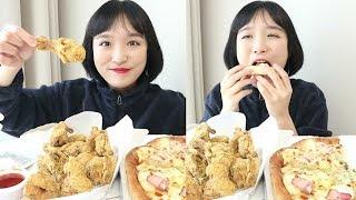 피자나라치킨공주 더블포테이토피자, 치즈치킨 _ 둘 다 먹고 싶다면 둘 다 먹자 :D
