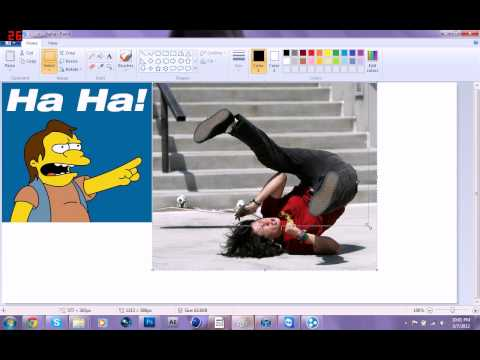How to add two pictures side by side in paint
