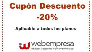 Cupón webempresa 20% descuento en Hosting
