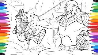 Spiderman Vs Thanos Avengers Infinity War Scene Avengers Coloring