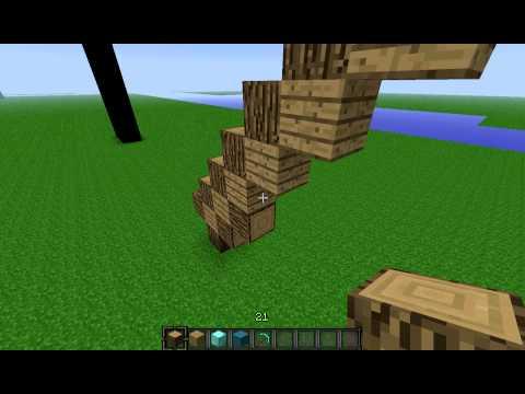 MineCraft Tutorial Diamond Pickaxe Statue