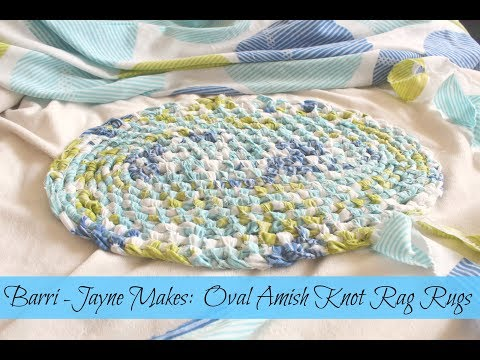 How to make an Oval Amish knot (toothbrush) rag rug - tutorial