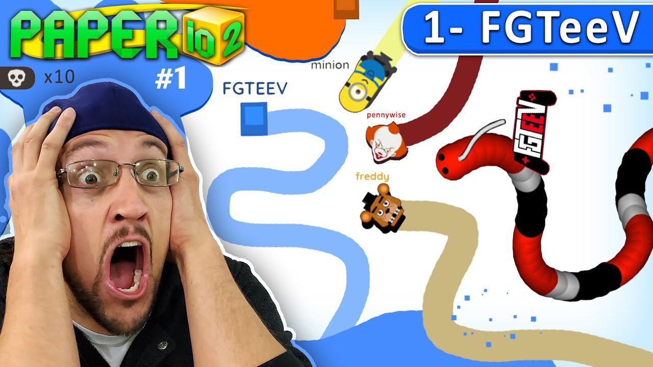 IRL PAPER.IO 2 Impossible Ideas??!?! (FGTEEV #1)