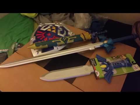 Trance unboxes the World of Nintendo Legend of Zelda Hylian Shield and Master Sword!