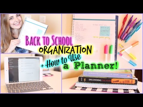 School Organization/Study Tips & How to Use a Planner! | Aspyn Ovard