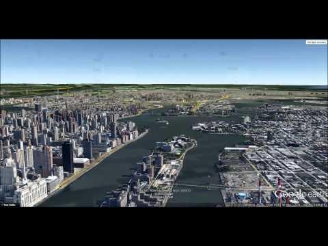 New York   Google Earth Flight Simulator HD