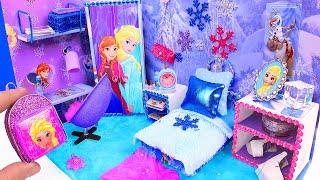 DIY Miniature Doll Bedroom for Disney Frozen Elsa