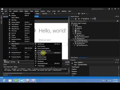 Windows 8 Development - XAML Design Tools Part 2