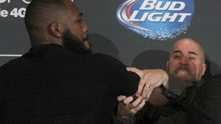Jon Jones and Daniel Cormier Brawl  (Complete Fight)