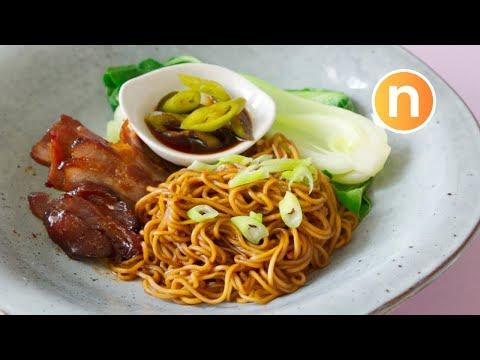 Wantan Noodles | Wonton Noodles | Dried Wonton Noodles | 云吞面 | Kon Loh Mee | 干捞面 [Nyonya Cooking]