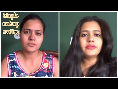 Simple Makeup Routine for housewife || basic makeup Routine || HOW TO DO Simple Indian makeup.
