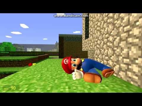 Mario In Minecraft In Gmod