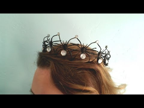 How To Make A Spooky Spider Crown!!!