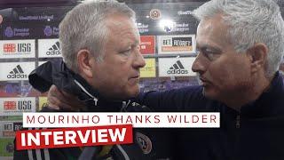 José Mourinho congratulates Chris Wilder   Post match interview Sheffield United vs Spurs