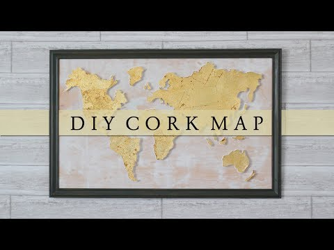DIY Cork Board World Map Wall Art