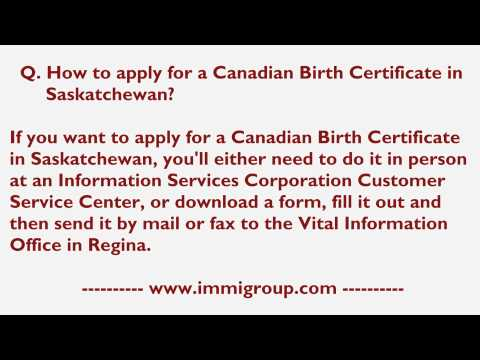 How To Apply For A Canadian Birth Certificate In Saskatchewan?