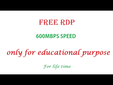 How To Get Free RDP