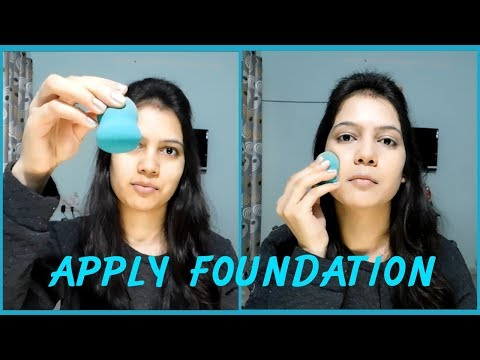 फाउंडेशन कैसे लगाएं| How to apply foundation for full coverage||TipsToTop By Shalini