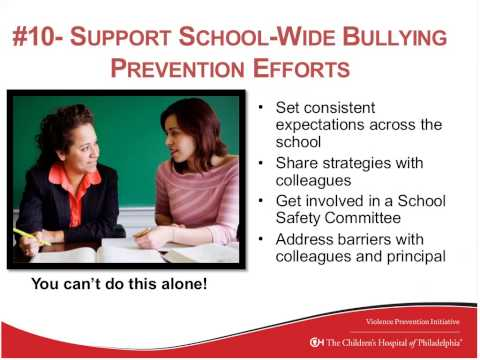 Teacher Workshop Preventing Bullying & Empowering Students