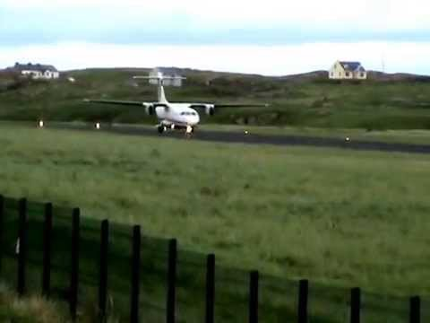 Take off from Donegal Airport, Aer Arann