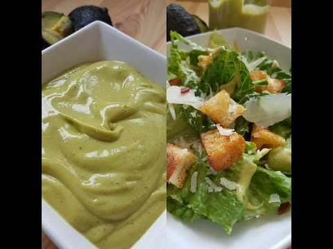How to make the best healthy Avocado Caesar salad- Avocado Salad Dressing
