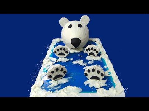 how to make polar bear cake