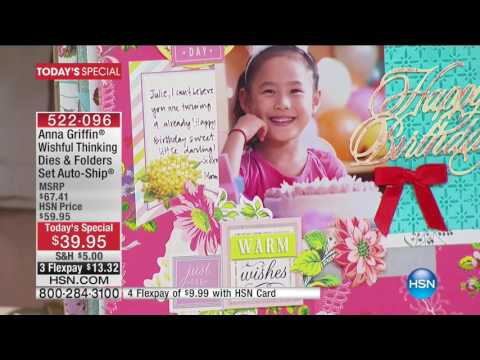 HSN | Anna Griffin Elegant Paper Crafting 7th Anniversary 01.10.2017 - 12 PM