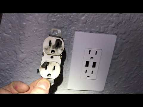 USB Style Wall Socket Outlet Installation