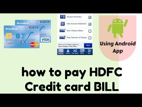 how to pay HDFC Credit card bill using Android mobile app