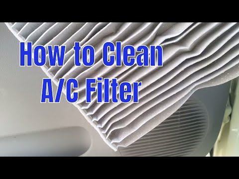 How to clean car AC filter and improve performance of car AC