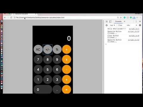 [WhollyCoders] Awesome Calculator | Part 3b - JavaScript (Opposite Button)
