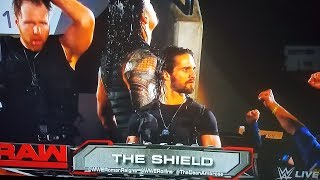 #RAW The Shield CROWD ENTRANCE RETURNS WWE RAW 10/16/17 wwe results wwe news wwe highlights