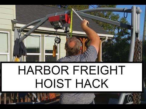 DIY - Old Yard Swing to Harbor Freight Hoist Hack