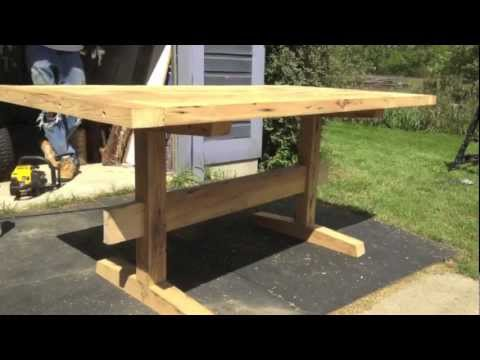 Building A Reclaimed Barn Wood Table