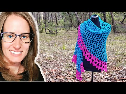 Crochet Jessica Shawl Part 1 of 3 CAL Body of shawl