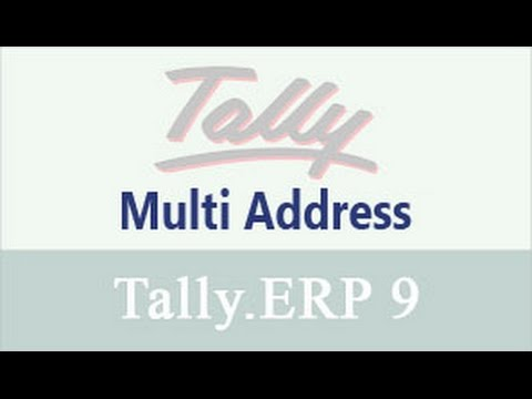 Multiple Address for Companies & Ledgers in Tally.ERP9 -Video Tutorial