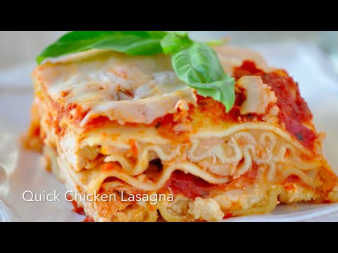 5 Ingredient EASY Chicken Lasagna with Rotisserie Chicken!  Quick Chicken Dinner