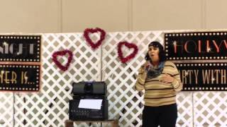 "Kristy sings ""Sunday Kind of Love"" by Etta James at the Glorieta 2016 Valentine"