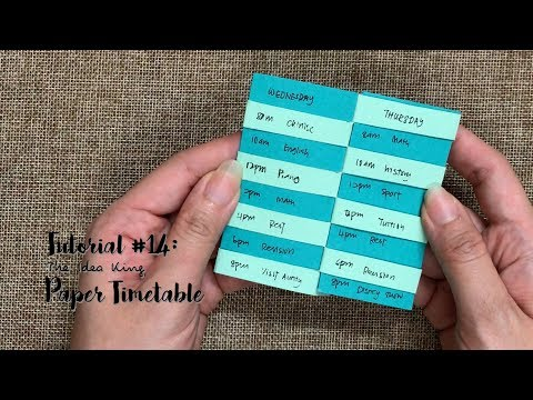How to Make Paper Flipping Timetable Step by Step? | The Idea King Tutorial #14
