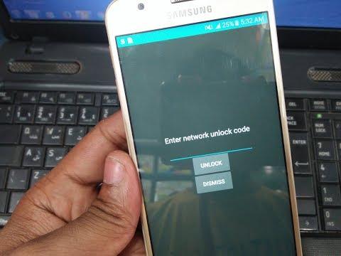Samsung J5 Prime Unlock | SM-G570F Unlock | Enter Network Unlock Code