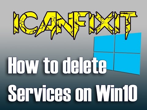 How to delete Services on Windows 10
