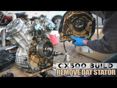 REMOVING STATOR | Cheap Craigslist CX500 Cafe Racer Build