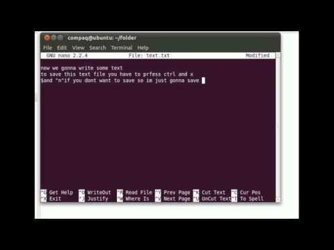 Ubuntu Terminal basic commands