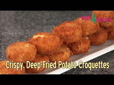 Deep Fried Mash Potato Croquettes - Super-Crisp on the Outside, Soft & Creamy on the Inside!!!