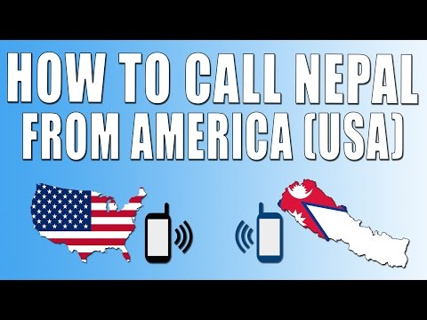 How To Call Nepal From America (USA)