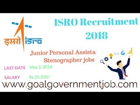 ISRO 171 ISRO for Junior Personal Assistant Post Govt Job || SAlary 35000/-