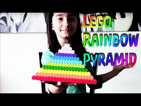 Lego Rainbow Pyramid