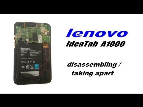 lenovo IdeaTab A1000 Teardown  - How to Disassemble / Take Apart