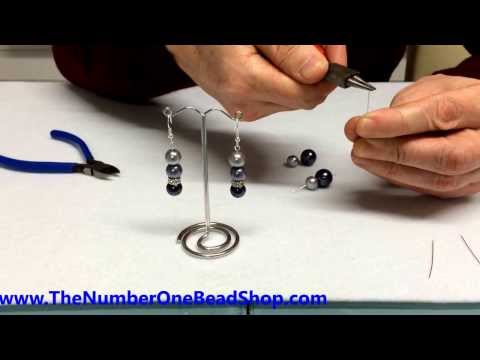 Using a headpin to make a loop to attach to earring or charm